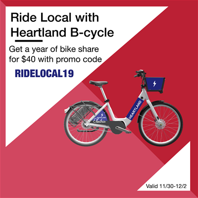 Heartland B-cycle Small Business Saturday Deal 2019